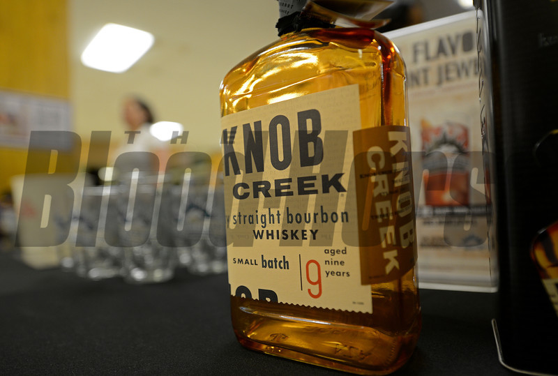 Caption: Get your Knob Creek and watch the Knob Creek Manhattan<br /> Belmont Stakes day on June 7, 2014, at Belmont Park in Elmont, N.Y.<br /> BelmontAM1 image916<br /> Photo by Anne M. Eberhardt