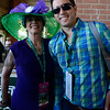 Caption: California Chrome fans in the colors<br /> Belmont Stakes day on June 7, 2014, at Belmont Park in Elmont, N.Y.<br /> BelmontAM1 image870<br /> Photo by Anne M. Eberhardt