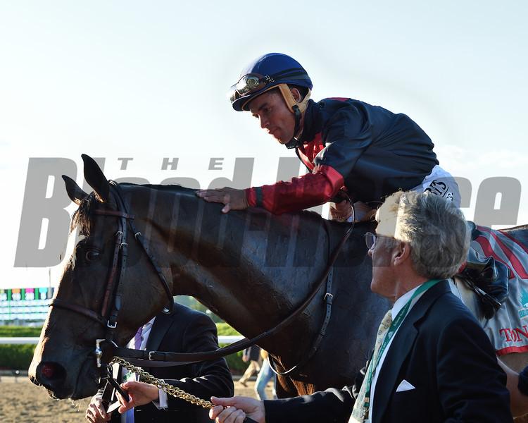 Tonalist wins the 2014 Belmont Stakes.<br /> Coglianese Photos