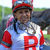 Caption: Mike Smith after Brooklyn Invitational<br /> Belmont Stakes day on June 7, 2014, at Belmont Park in Elmont, N.Y.<br /> 3-Brooklyn1 image473<br /> Photo by Anne M. Eberhardt