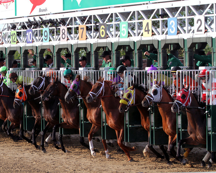 Kentucky Derby Start Churchill Downs Chad B. Harmon