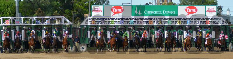 Start of the 2014 Kentucky Derby