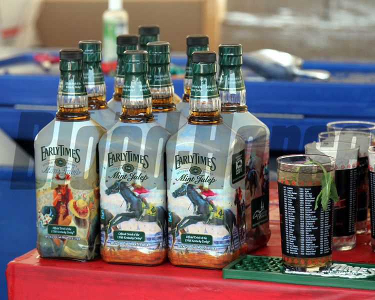 Early Times Mint Julep bottles Churchill Downs Chad B. Harmon