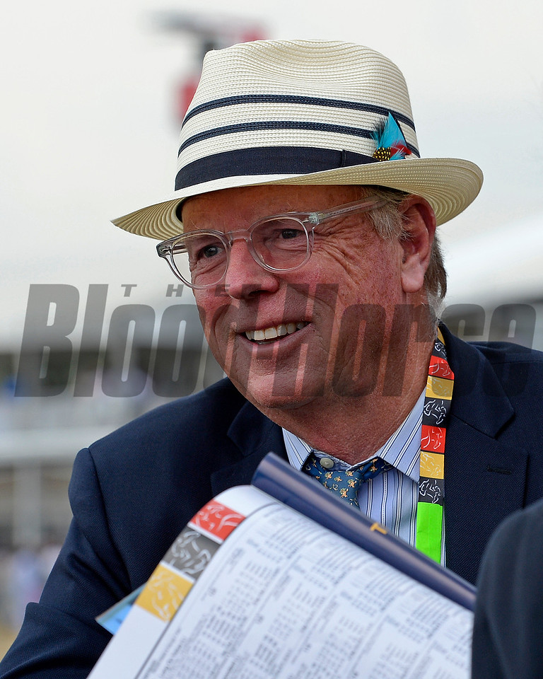 Caption:  John Stuart on Preakness day on May 16, 2015, at Pimlico in Baltimore, Md.<br /> Clydesdales  image095<br /> Photo by Anne M. Eberhardt