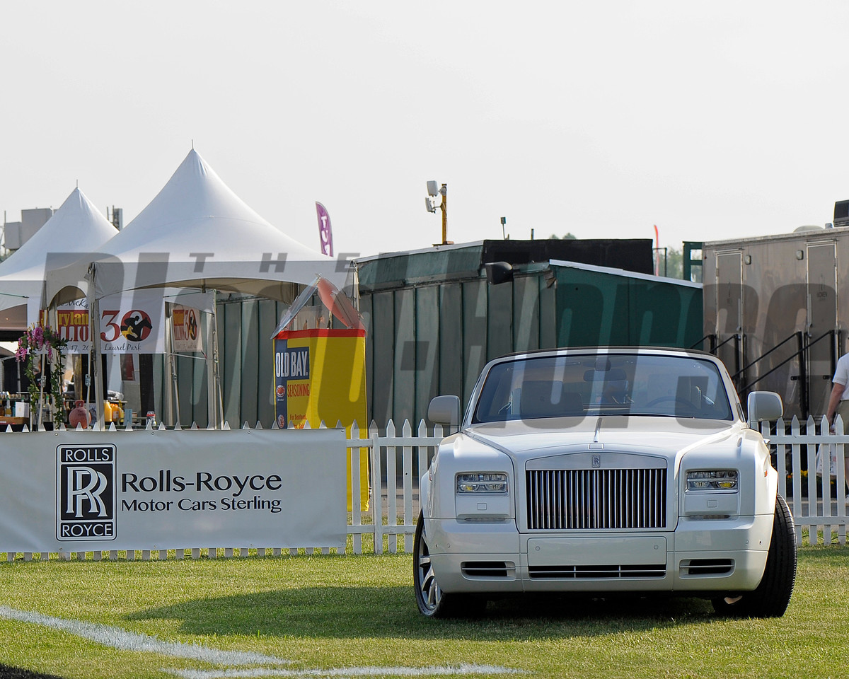 Caption:  Rolls Royce, sponsor<br /> Preakness day on May 15, 2015, at Pimlico in Baltimore, Md.<br /> Scenes2Sat image589<br /> Photo by Anne M. Eberhardt