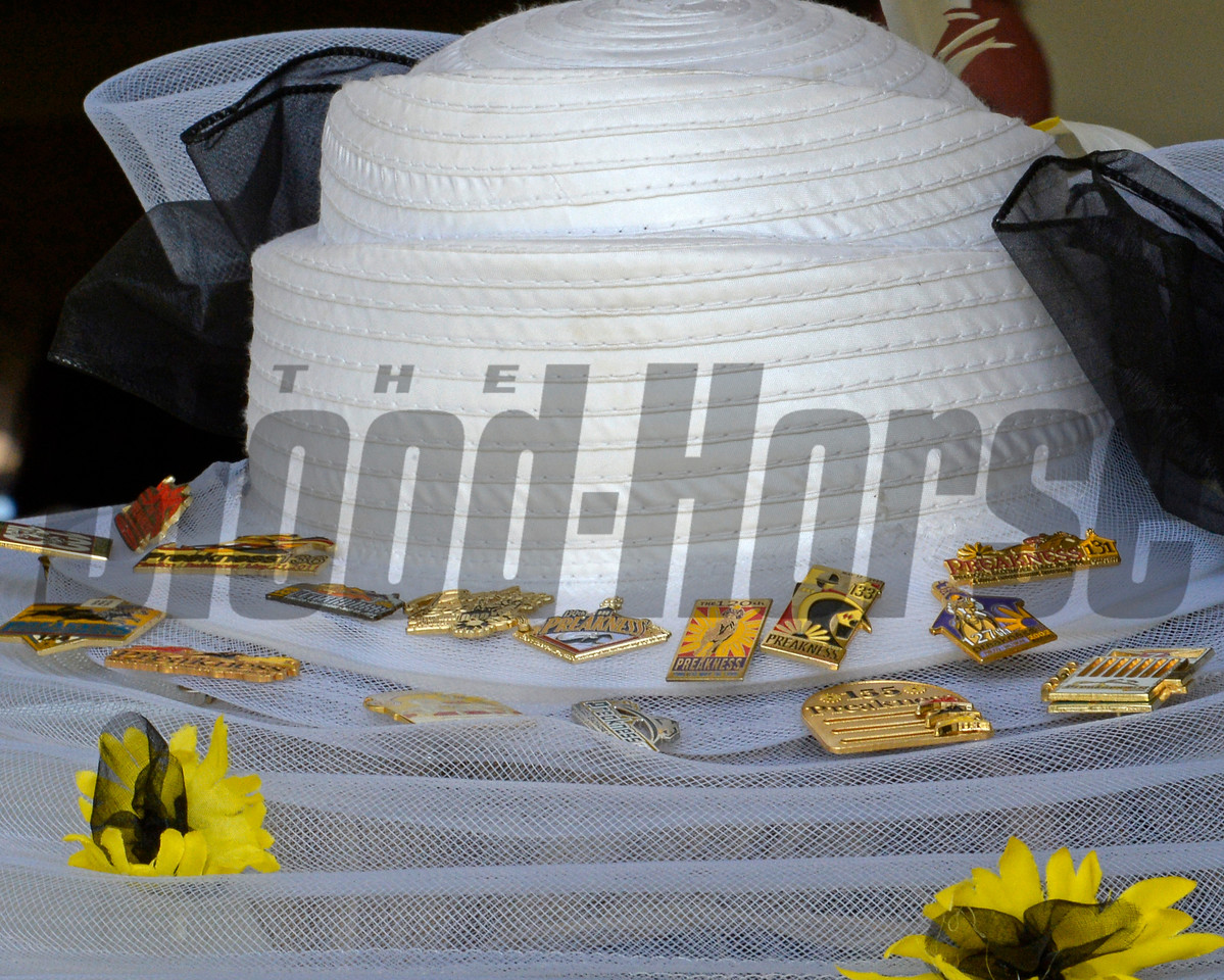 Preakness pins on a hat