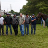 2016 Kentucky Derby winner Nyquist poses with Team O'Neil members the day after the Derby in the barn area of Churchill Downs May 8, 2016 in Louisville, KY Photo by Skip Dickstein