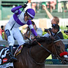 Mario Guiterrez abord Nyquist wins the 142nd running of the Kentucky Derby at Churchill Downs May 7, 2016 in Louisville, Kentucky-  Photo by Skip Dickstein