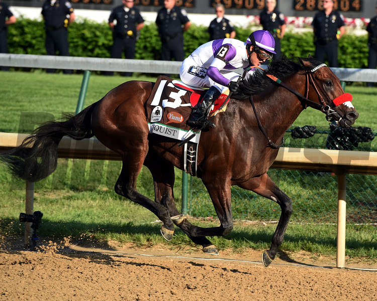 Mario Guiterrez abord Nyquist wins the 142nd running of the Kentucky Derby at Churchill Downs May 7, 2016 in Louisville, Kentucky<br /> Dave Harmon Photo