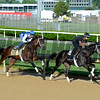 Horses on track at Churchill Downs in Louisille, Ky., on April 29, 2016.<br /> Outwork