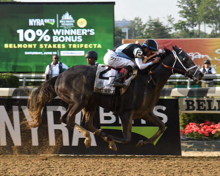 Tapwrit wins the 2017 Belmont Stakes<br /> Coglianese Photos/Brittlan Wall