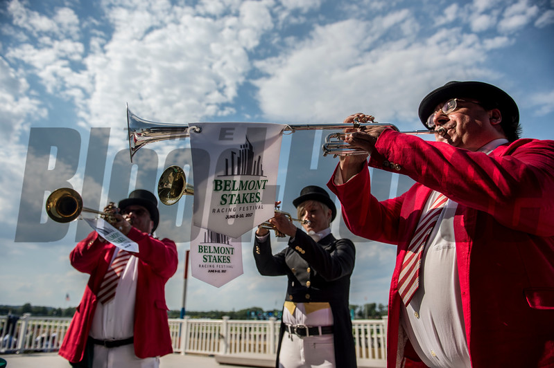 The buglers play Call to the Post before the Belmont State June10, 2017 at Belmont Park <br /> Photo by Skip Dickstein