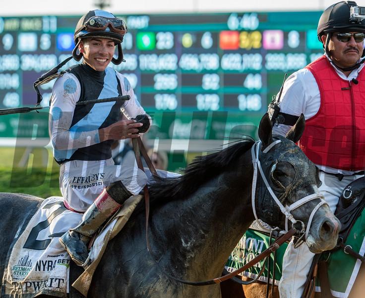 Tapwrit, Jose Ortiz up, 2017 Belmont Stakes<br /> Skip Dickstein