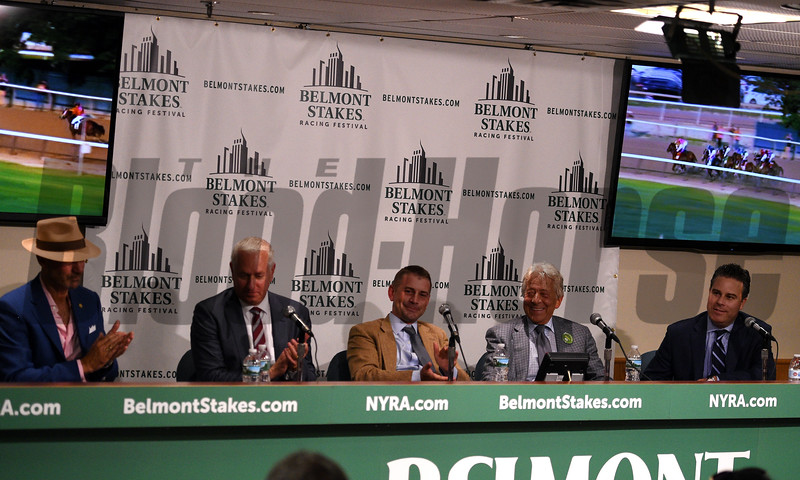 Tapwrit wins the 2017 Belmont Stakes - Press Conference<br /> Dave Harmon Photo
