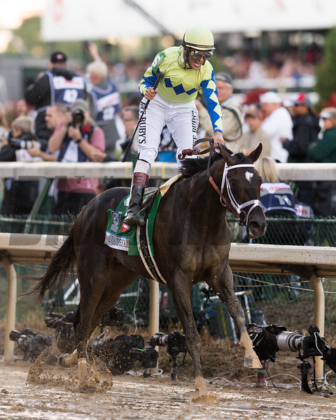 Always Dreaming with John Velazquez wins the 143 Kentucky Derby at Churchill Downs, in Louisville Kentucky<br /> <br /> Saturday May 6, 2017<br /> <br /> Photo by Joseph Rey Au