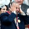 Always Dreaming's owner Anthony Bonomo reacts after winning the 143rd running of the Kentucky Derby May 6, 2017 in Louisville, Kentucky.  Photo by Skip Dickstein