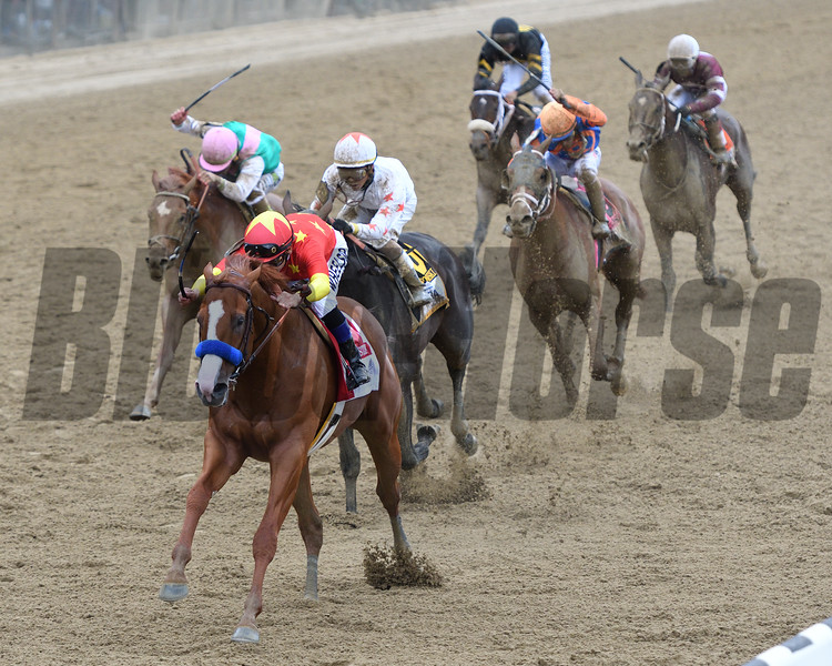 Justify, Mike Smith, Belmont Stakes presented by NYRA Bets; G1; Belmont Park; June 9; 2018