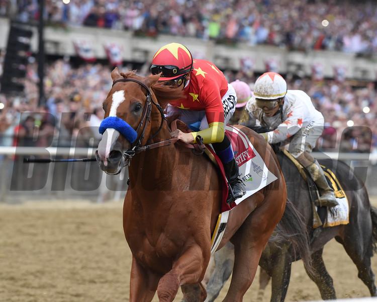 Justify wins 2018 Belmont Stakes at Belmont Park Saturday, June 9, 2018.  Photo: Coglianese Photos/Adam Mooshian