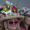 Hats and fans at Belmont Park on Belmont Stakes Day 150 in Elmont, N.Y.  Photo by Skip Dickstein