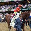 Justify wins 2018 Belmont Stakes at Belmont Park Saturday, June 9, 2018. Photo: Coglianese Photos/Joe Labozzetta