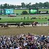 Justify wins 2018 Belmont Stakes at Belmont Park Saturday, June 9, 2018. Photo: Coglianese Photos/Elsa Lorieul