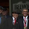 Elliot Walden, Mr. Khing and Kenny Troutt before the 150th running of the Belmont Stakes.  Photo by Skip Dickstein