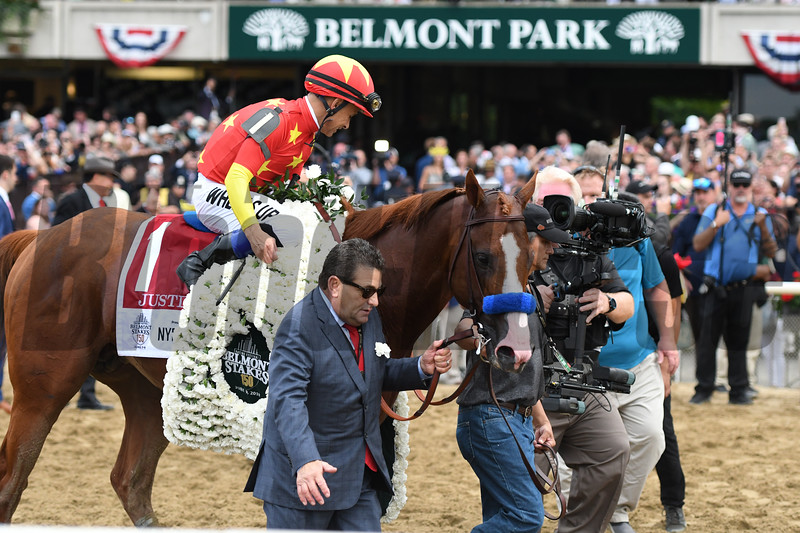 Justify wins 2018 Belmont Stakes at Belmont Park Saturday, June 9, 2018. Photo: Coglianese Photos/Annette Jasko