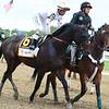 Gronkowski before the Belmont Stakes<br /> Dave W. Harmon