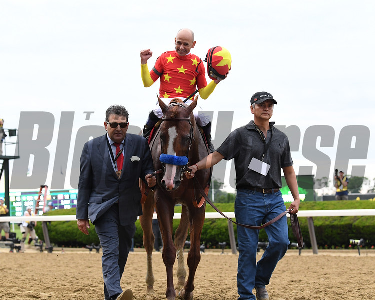 Justify wins 2018 Belmont Stakes at Belmont Park Saturday, June 9, 2018. Photo: Coglianese Photos/Viola Jasko