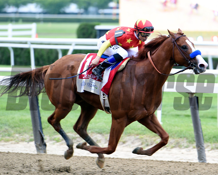Justify with Mike Smith wins the Belmont Stakes (G1) <br /> Dave W. Harmon
