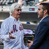 Trainer Bob Baffert throws out the ceremonial first pitch at the Mets Orioles game at Citi Field Tuesday June 5, 2018 in New York, New York Photo by Skip Dickstein