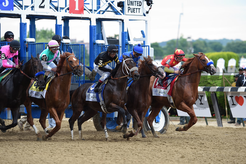 Justify wins 2018 Belmont Stakes at Belmont Park Saturday, June 9, 2018. Photo: Coglianese Photos