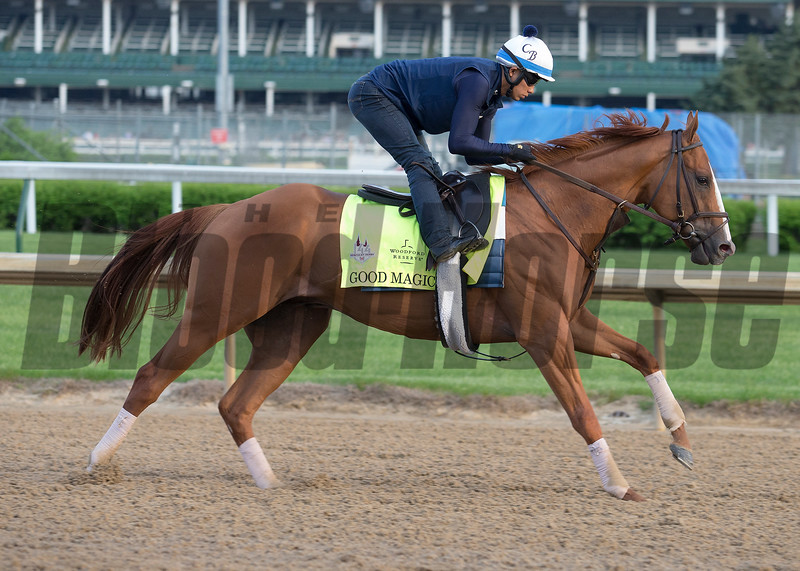Kentucky Derby contender Good Magic in morning of May 2, 2018.