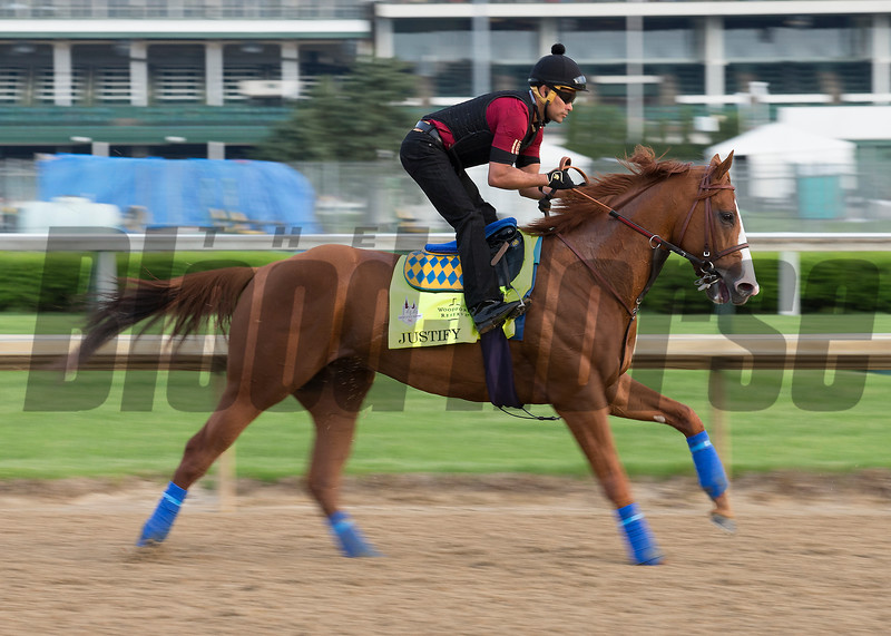 Kentucy Derby contender Justify  in the morning of May 2, 2018.
