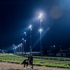 Works start before the suns up at Churchill Downs Wednesday May 2, 2018. Photo by Skip Dickstein