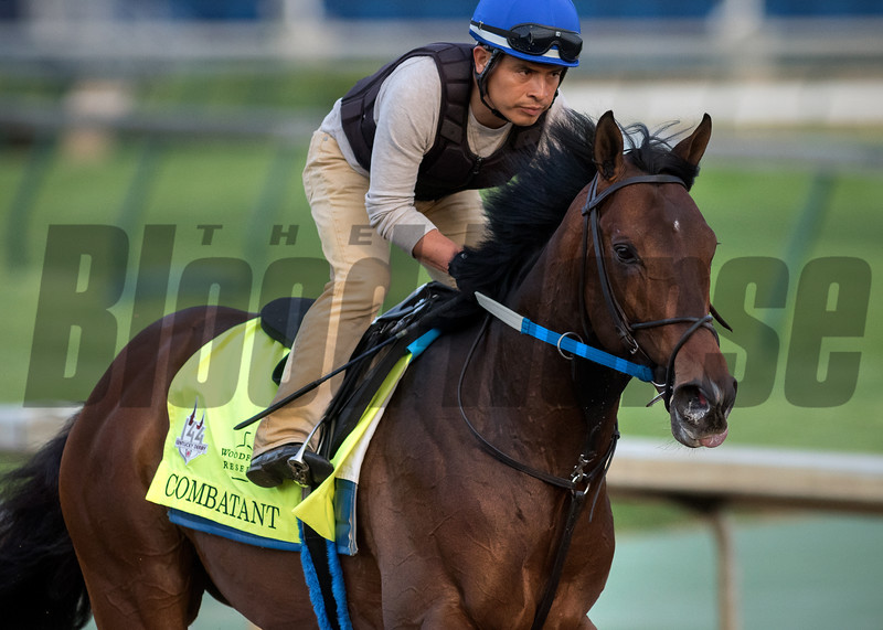 COMBATANT training in the morning at Churchill Downs