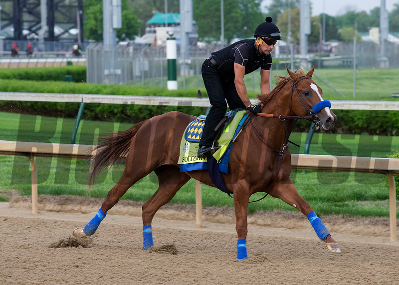 Solomini in the morning at Churchill Downs on 5/3/18.