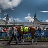 KY Derby entrant Audible schools in paddock Wednesday May 2, 2018. Photo by Skip Dickstein