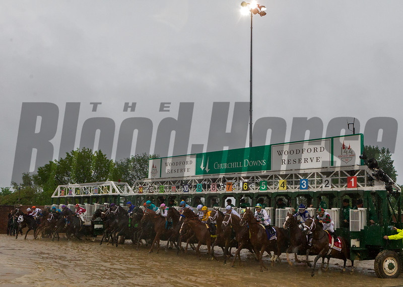 Leaving the gate in the 2018 Kentucky Derby
