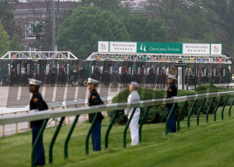 The start of the Kentucky Derby at Churchill Downs on May 5, 2018.