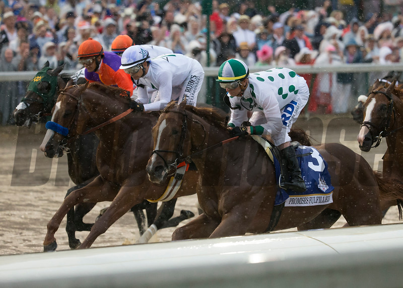 Justify, and Promises Fullfilled at the start of the Kentucky Derby today at Churchill Downs on May 5, 2018.