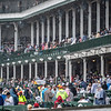 A large crowd attends Churchill Downs on Kentucky Derby Day 144 Saturday May 5, 2018 in Louisville, Kentucky.  Photo by Skip Dickstein