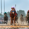 Justify with jockey Mike Smith wins the 144th running of the Kentucky Derby May 5, 2018 at Churchill Downs in Louisville, Kentucky Photo by Skip Dickstein