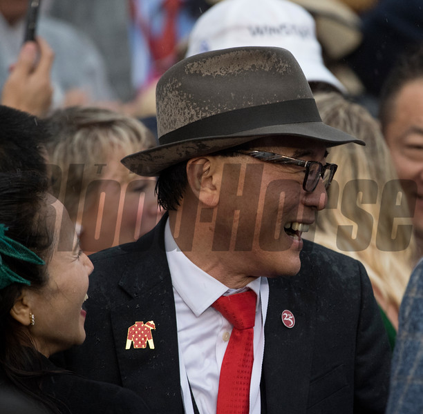 Co-owner Ah King Teo is all smiles as Justify wins the 144th running of the Kentucky Derby May 5, 2018 at Churchill Downs in Louisville, Kentucky Photo by Skip Dickstein