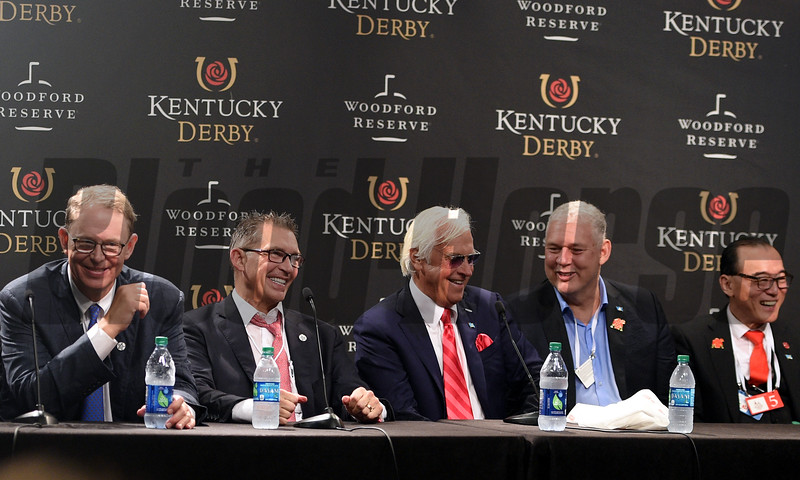 Justify, Mike Smith, Kentucky Derby, G1, Churchill Downs, May 5, 2018, press conference, Elliott Walden, Kenny Troutt, Bob Baffert, Ah Khing Teo