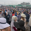 The rain didn't stop fans from packing the infield at Churchill Down on Derby Day.