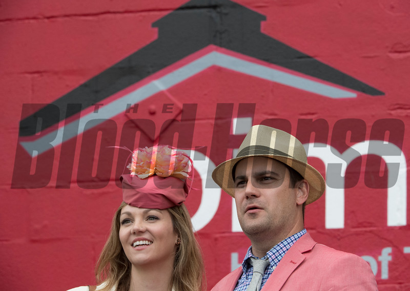 Fans at the track on Preakness Day at Pimlico Race Course Saturday May 19, 2018.  Photo by Skip Dickstein