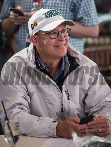 Elliott Walden of Winstar Farm is all smiles after Justify received Post Position #7 for the 143rd running of the Preakness Stakes. Photo by Skip Dickstein