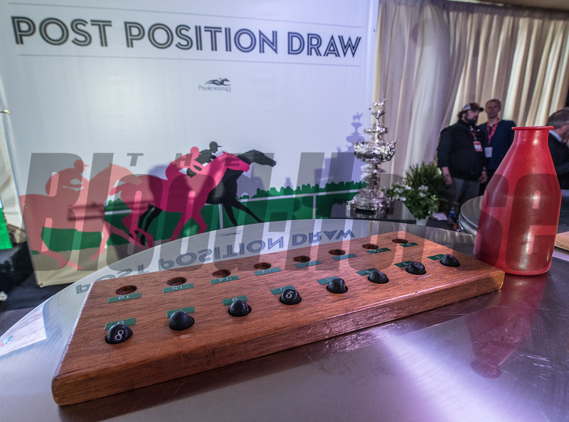 The pills are prepared for the Post Position Draw for the 143rd running of the Preakness Stakes. Photo by Skip Dickstein