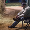 D. Wayne Lukas put his spurs on before morning exercise for his Preakness entrants at Pimlico Race Course in preparation for Saturday's Preakness Stakes Thursday May 17, 2018 in Baltimore, MD.  Photo by Skip Dickstein